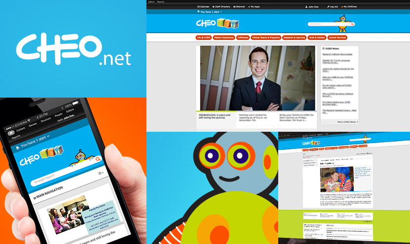 Images representing the CHEO website