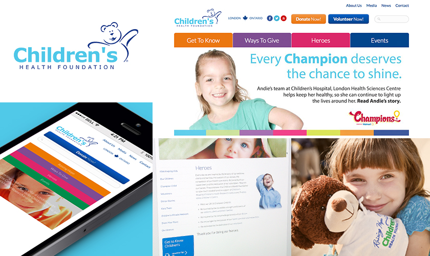 Images representing the Children's Health Foundation site