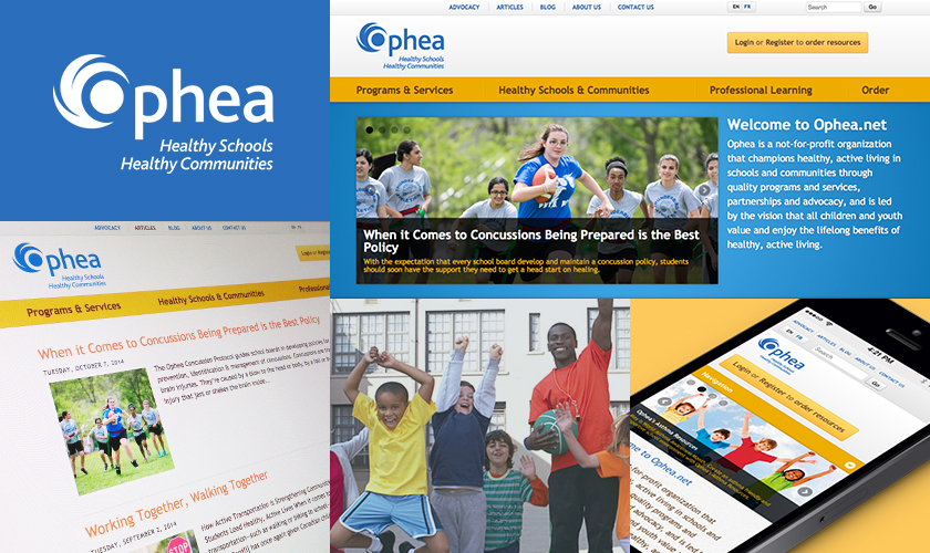 Images representing the OPHEA website
