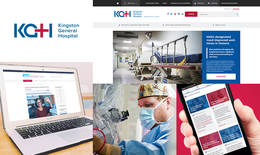 KGH work screens images collage