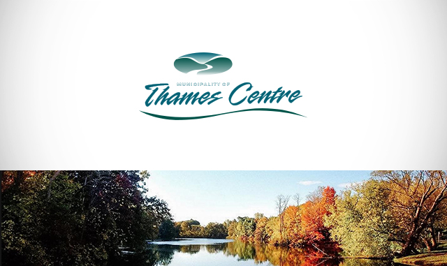 Logo and nature scene of Thames Centre