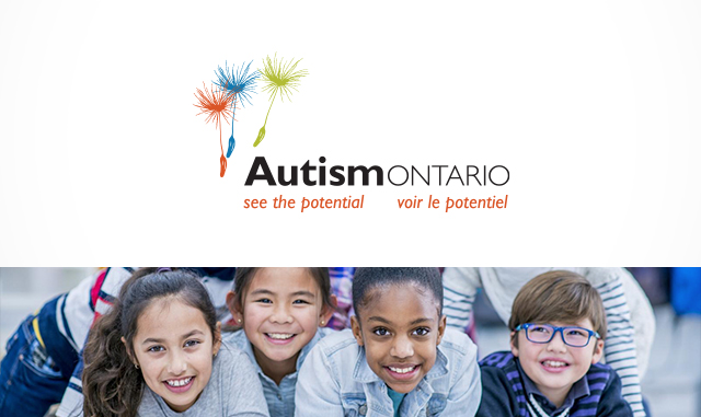 Autism Ontario logo and picture of children