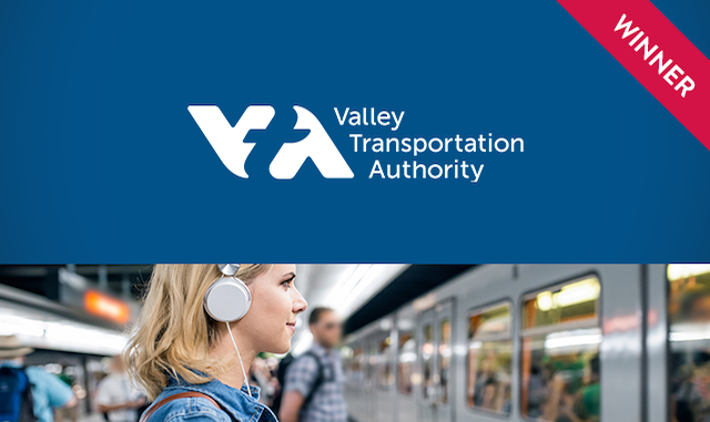 VTA logo with award winner ribbon