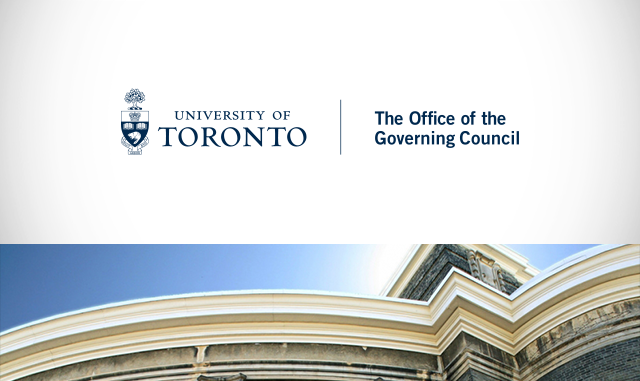 University of Toronto Office of the Governing Council logo and photo of building