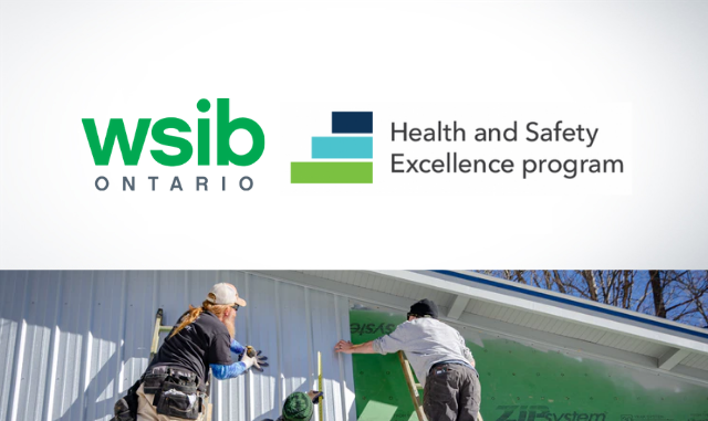 WSIB Health and Safety Portal logo with men painting a house
