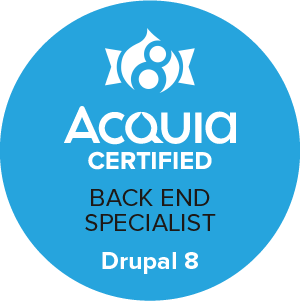 D8 Backend Specialist Badge